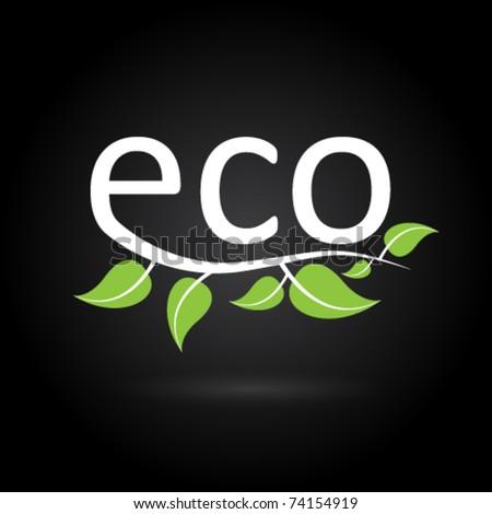 ecology icon - stock vector