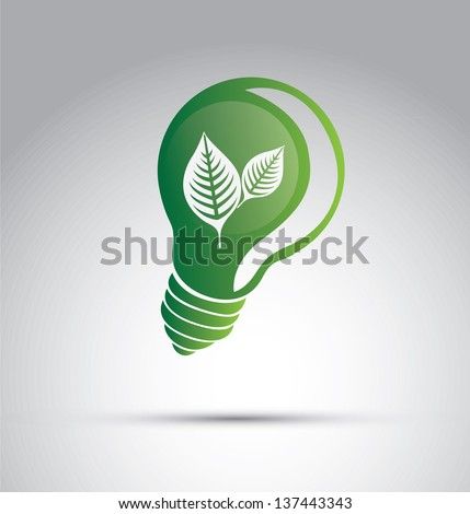 Ecology icon over gray background vector illustration