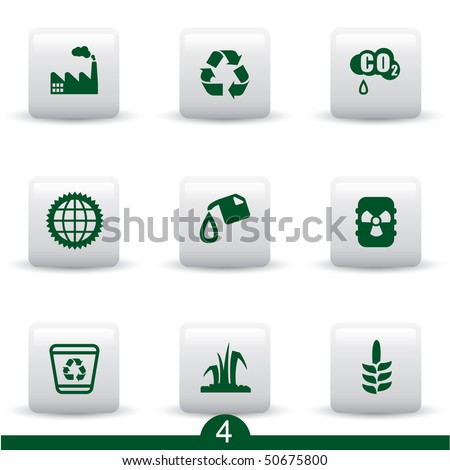 Ecology icon series 4 - stock vector