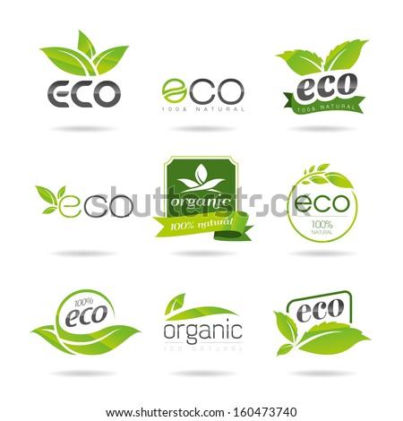 Ecology icon set. Eco-icons - stock vector
