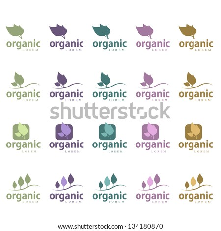 Ecology Icon - Set - Isolated On White Background. Vector illustration, Graphic Design Editable For Your Design. Ecology Logo - stock vector