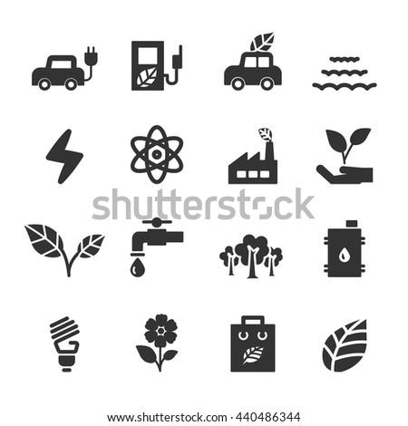 ecology icon set, vector eps10. - stock vector