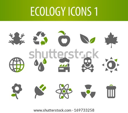 Ecology Icons 1. - stock vector