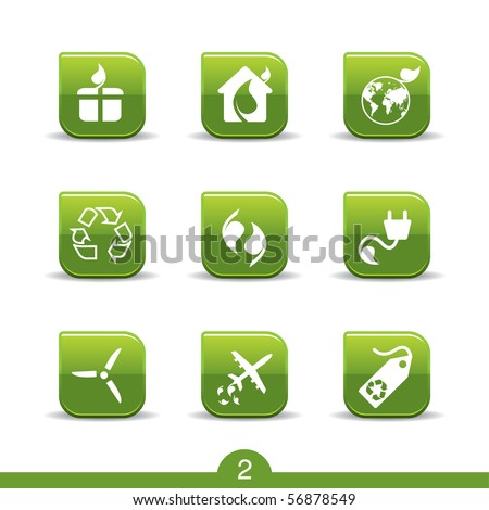 Ecology icons no.2..smooth series - stock vector