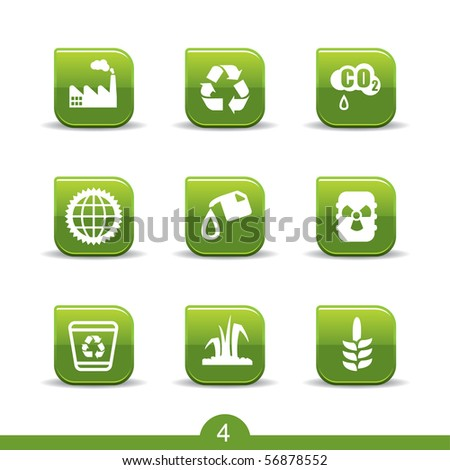 Ecology icons no.4..smooth series - stock vector
