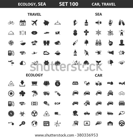 Ecology icons set.