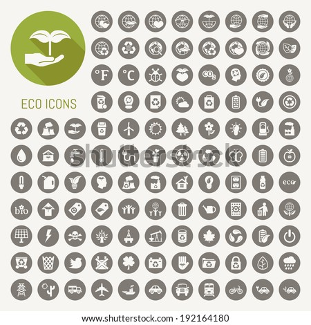 ecology icons set , eps10 vector format - stock vector