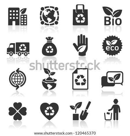 Ecology icons set4. vector illustration. More icons in my portfolio. - stock vector