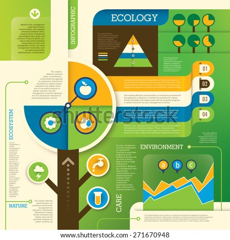 Ecology info graphic. Vector illustration. - stock vector