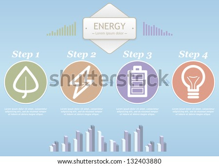 Ecology info graphics collection, charts, symbols, graphic vector elements. Eps 10 - stock vector