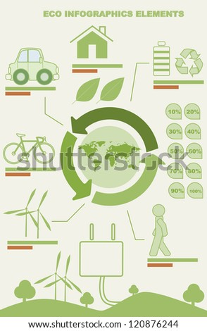Ecology info graphics, elements and icons - stock vector