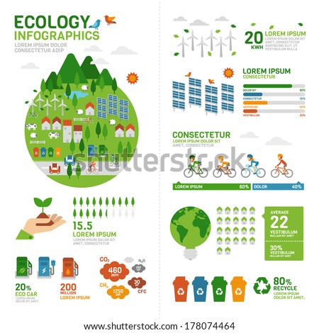 Ecology Infographic - stock vector