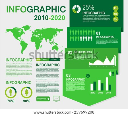 Ecology infographic elements - stock vector
