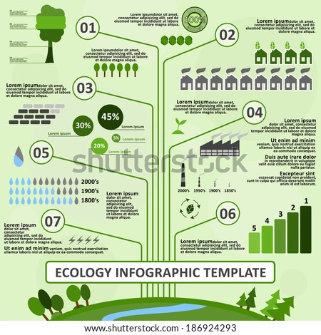 Infographic Ideas easy infographic template : Ecology Infographic Template Easy Edit Vector Stock Vector ...