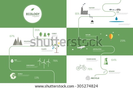 Ecology Infographic. Vector illustration  - stock vector