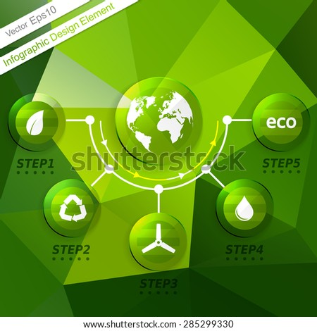 Ecology Infographics design element. Template with 
