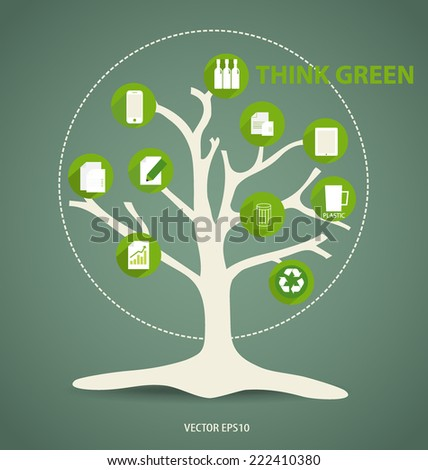 Ecology Infographics design elements. Vector illustration. - stock vector