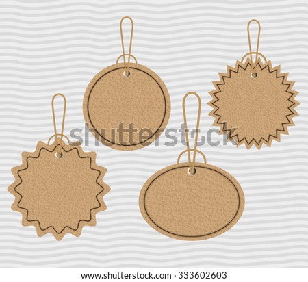 Ecology label and tag theme design, vector illustration graphic