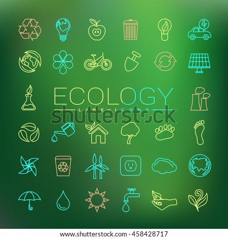 Ecology Line Icons