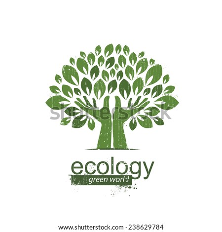 Ecology. Logo, icon, template. Vector illustration - stock vector