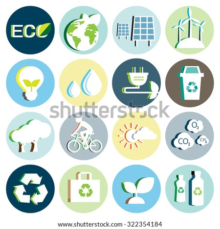 Ecology paper icon - stock vector