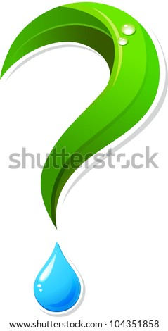 Ecology question mark icon - stock vector