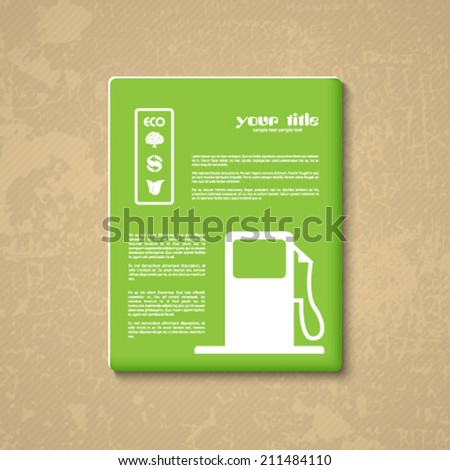 ecology signs and symbols card - stock vector