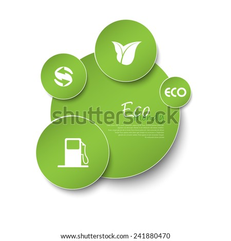 Ecology signs and symbols on - stock vector