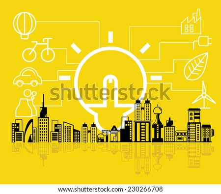 ecology system, clean energy - stock vector