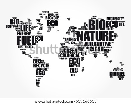 Ecology theme world map typography word vector de stock619166513 ecology theme world map in typography word cloud conceptual background gumiabroncs Image collections