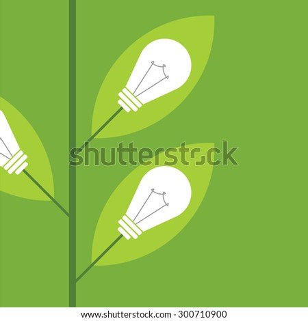Ecology Think green bulb tree vector illustration  - stock vector