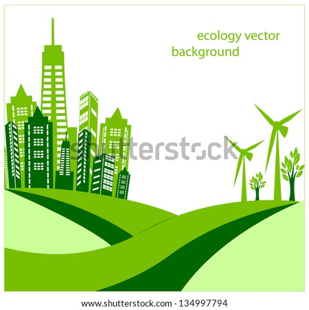 Ecology vector background - stock vector