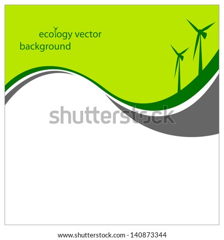 Ecology vector background.Healthy concept