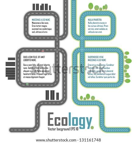 Ecology, vector elements - stock vector