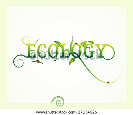 ecology. vector floral background.
