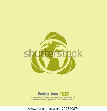 ecology vector icon - stock vector