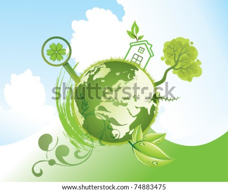 ecology vector illustration