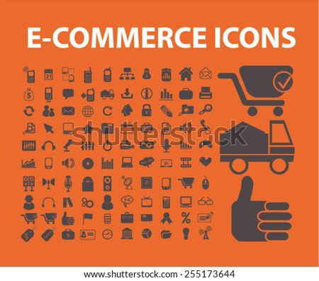 ecommerce, retail, shop, marketing, business, delivery flat isolated concept design icons, symbols, illustrations on background for web and applications, vector - stock vector