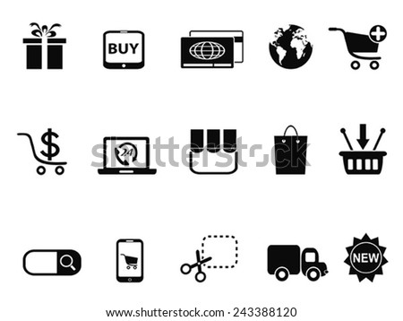 eCommerce & Shopping icons set - stock vector