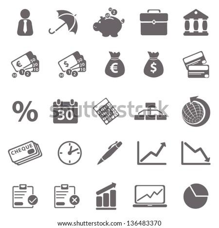 Economic basic icons - stock vector