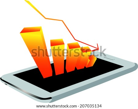 Economic downturn - stock vector