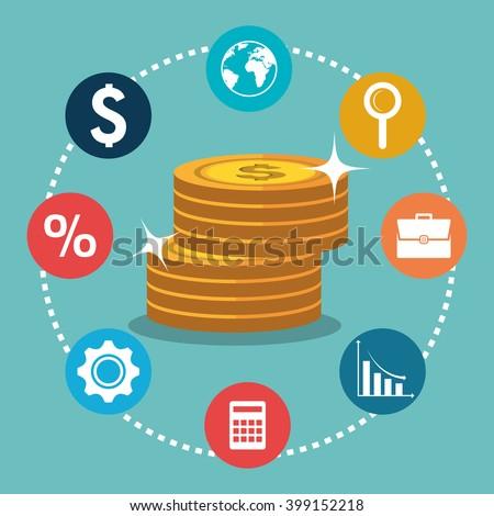 economic growth design  - stock vector