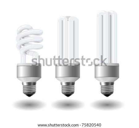 Economic light bulb set eps10 - stock vector