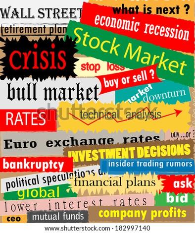 Economy banners collection vector artwork - stock vector
