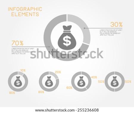 economy business finance money infographic elements vector template - stock vector