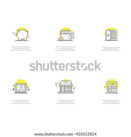Economy icons. Set of business concept icons for personal or company portfolio, website project or printing. - stock vector