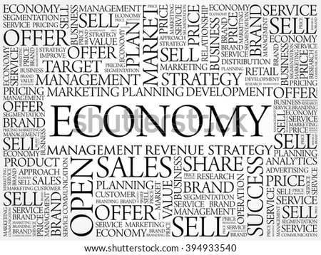 ECONOMY word cloud, business concept background - stock vector