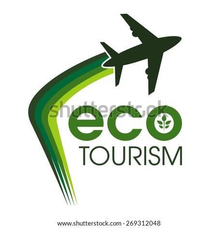 Ecotourism design concept. - stock vector