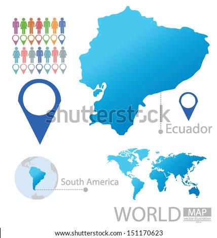 Ecuador south america world map vector stock vector 151170623 ecuador south america world map vector illustration gumiabroncs Choice Image
