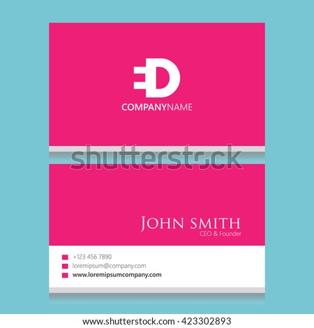 Ed logo business card template stock vector 423302893 shutterstock ed logo business card template cheaphphosting Gallery